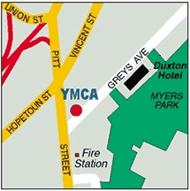 Map to YMCA